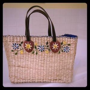 Handbags - Wicker large bag NEW